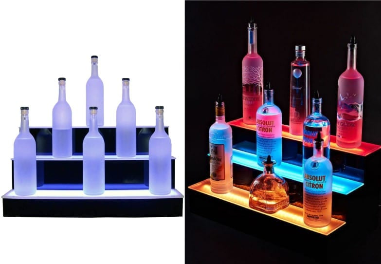 Liquor Display Shelf with LED Lights
