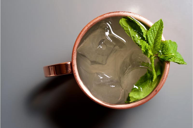 Low Carb Minty Moscow Mule