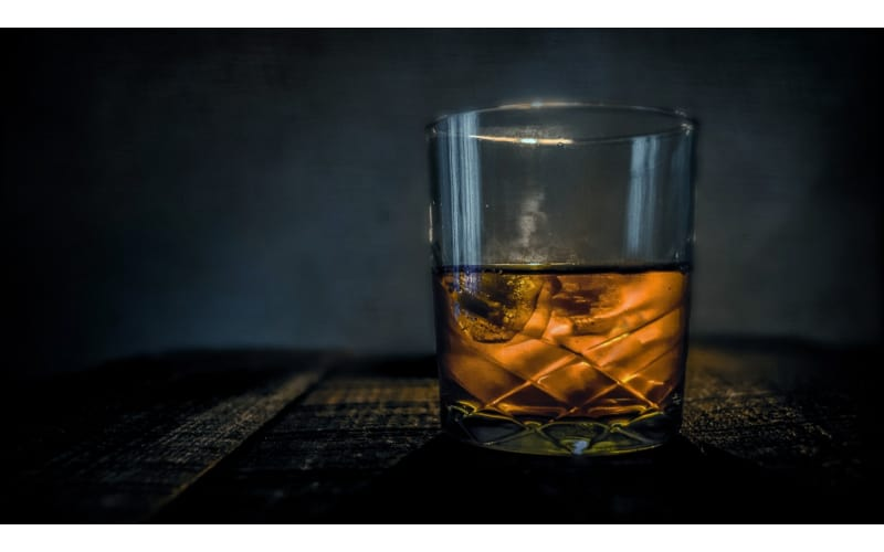 Glass with old scotch