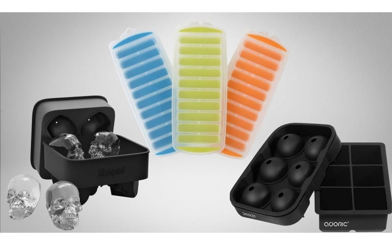 3 different ice trays