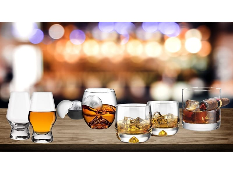 Various whiskey glasses to choose from