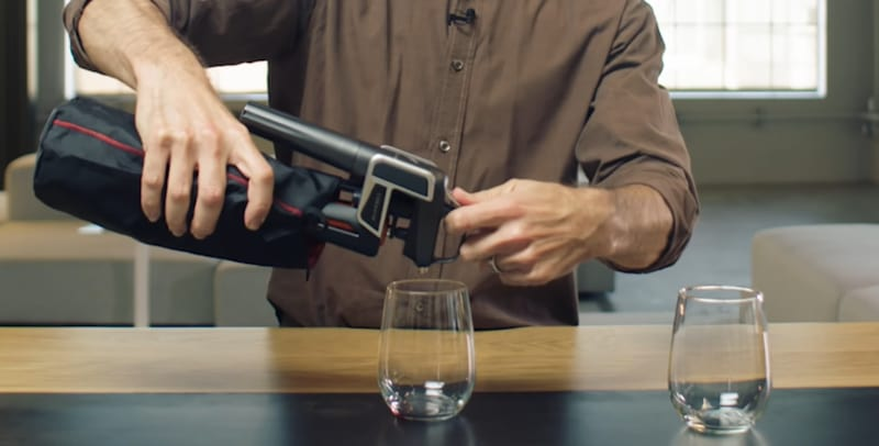Man using a Coravin