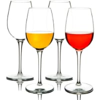 MICHLEY Red Goblet Reusable Plastic Wine Glass
