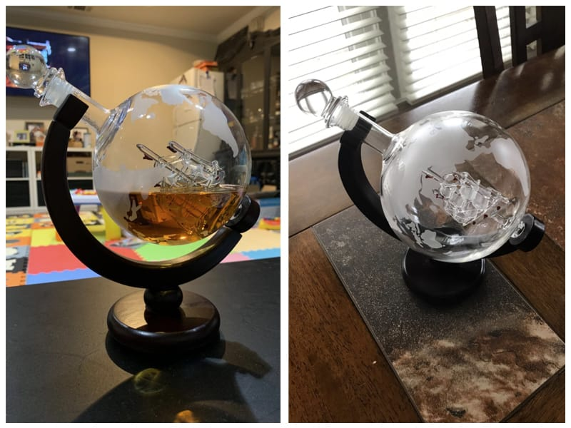 Monterey Crystal Etched Globe Whiskey Decanter Customer Review
