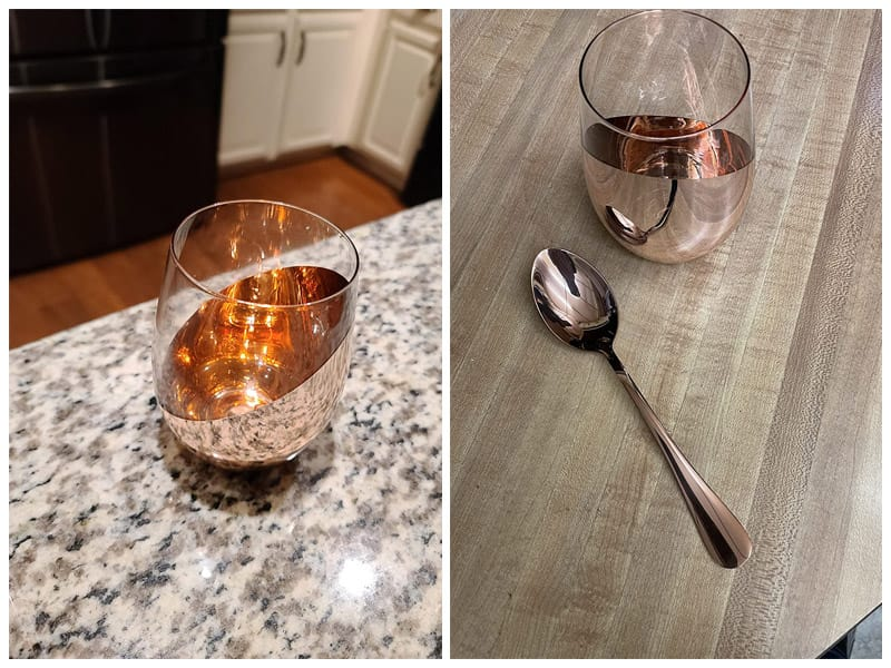 MyGift Modern Copper Stemless Wine Glasses review
