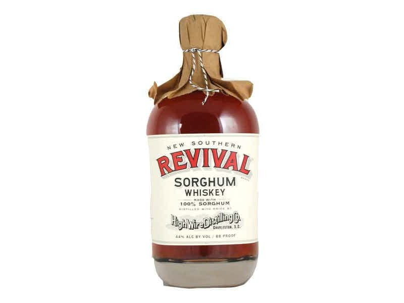 A bottle of New Southern Revival Sorghum Whiskey