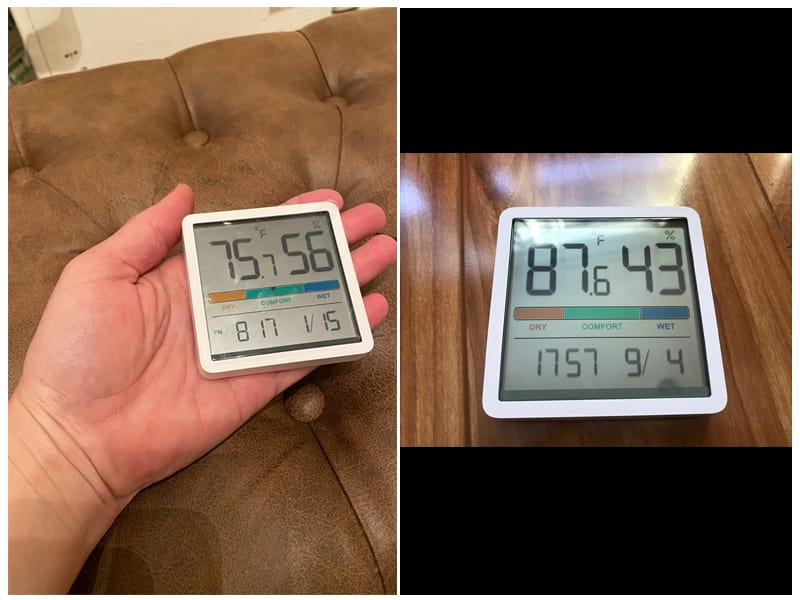 NOKLEAD Hygrometer Thermometer with Clock review