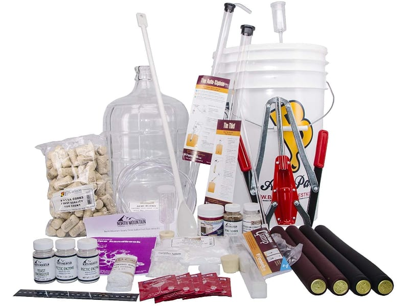 North Mountain Supply 3-Gallon Wine from Fruit Complete 32pcs Kit