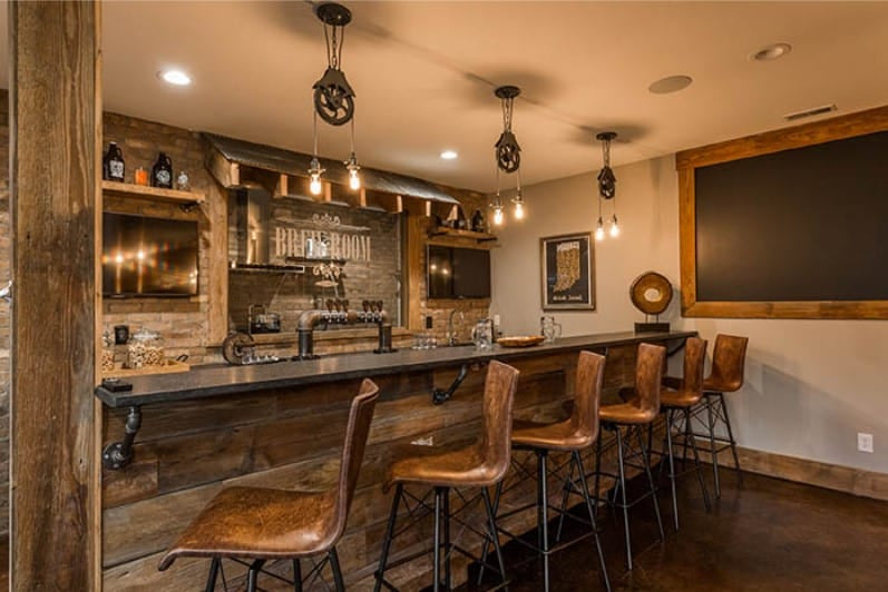 Old West Rustic Bar - Image by Havenhome.me