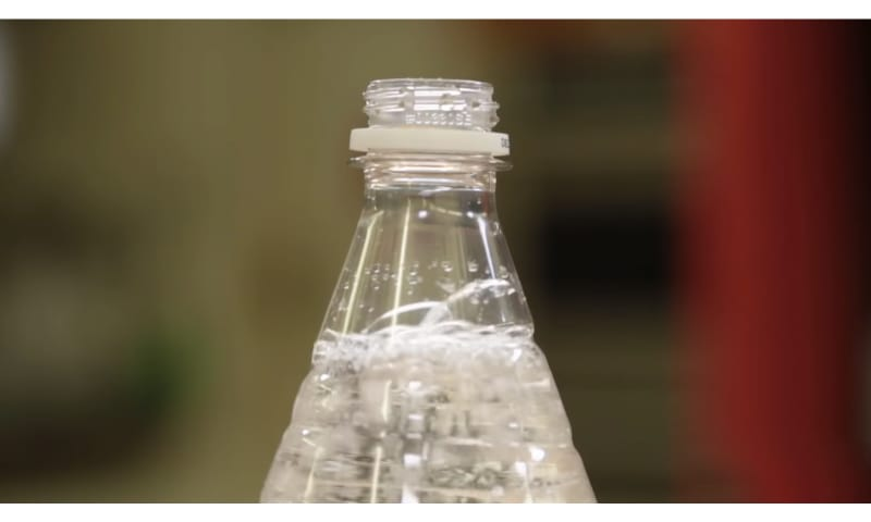 Opened Bottle of sparkling water