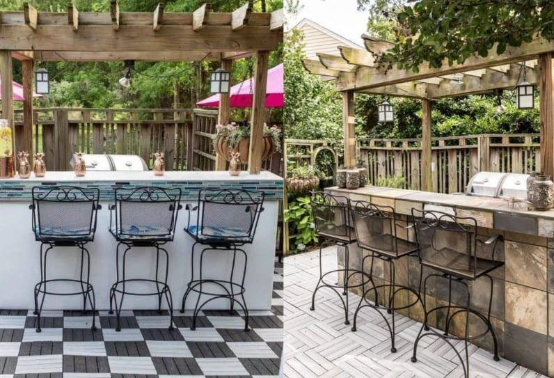 Patio or Deck Bar - Image by Fromhousetohome.com