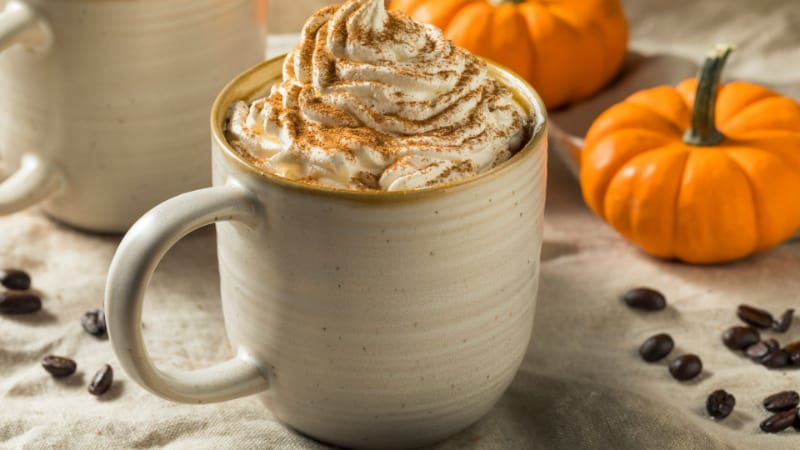 Pumpkin Spice White with whipped cream