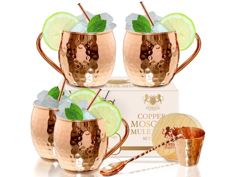 MB-Weiss Moscow Mule Mugs with gift box