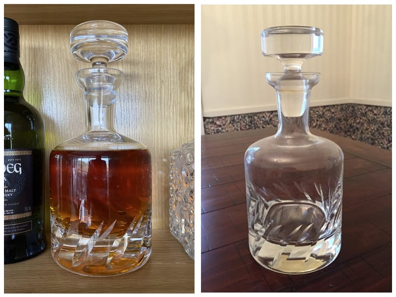 Ravenscroft Crystal Beveled Blade Container Customer Review