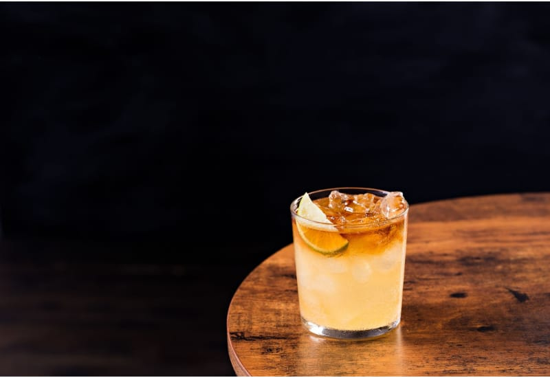 Refreshing Dark and Stormy Cocktail