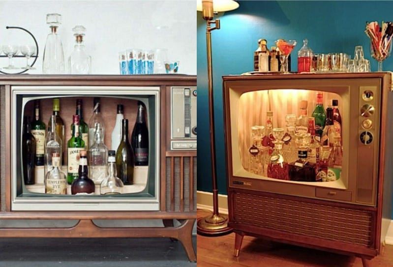 Vintage TV Bar - Image by Homebars.barinacraft.com