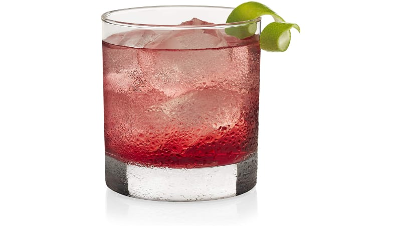 Boozy Cranberry Cocktail in a Rocks Glass