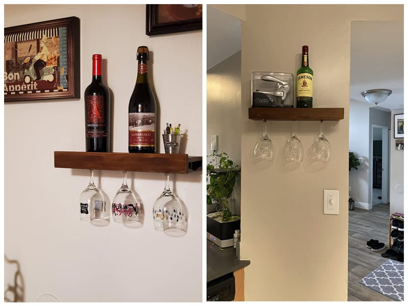 Rustic State Wall Mounted Wine Rack