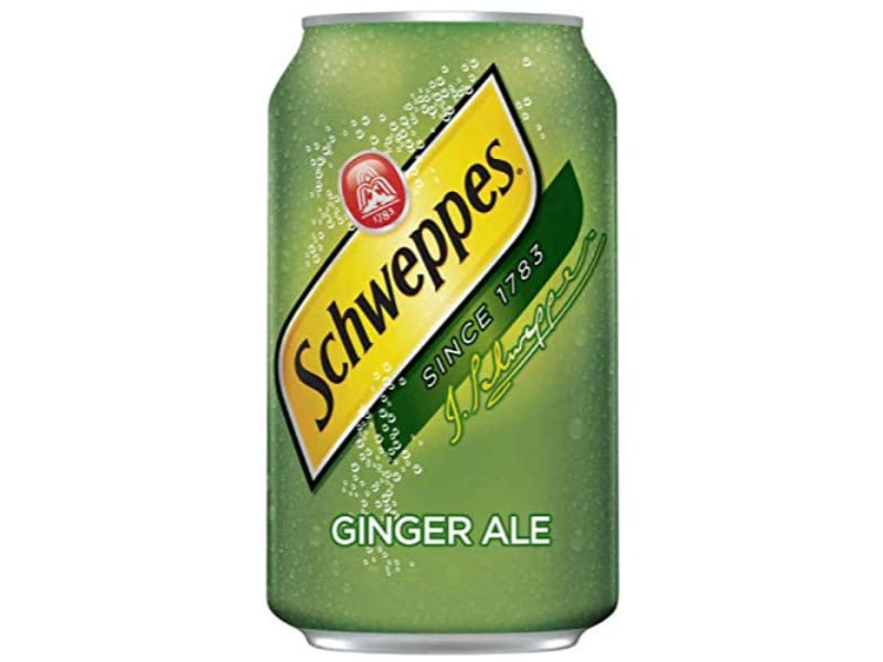 A can of Schweppes ginger ale