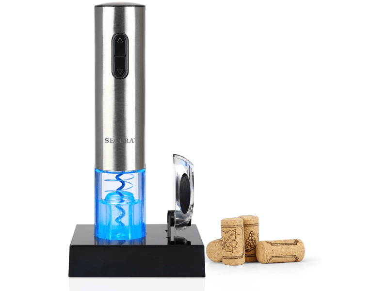 Secura Electric Wine Opener with corks