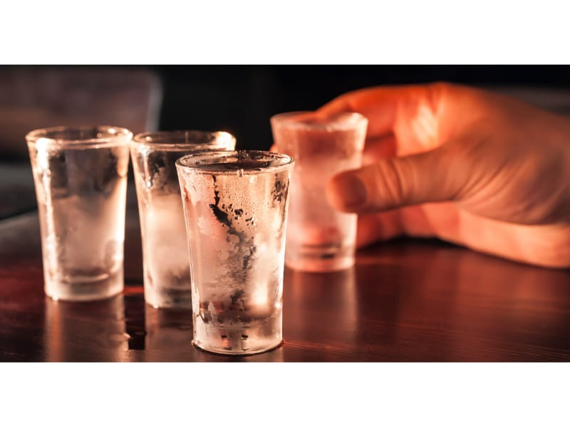 Four chilled shotglass