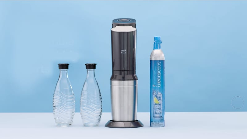 SodaStream Aqua Fizz with bottles and cartridge