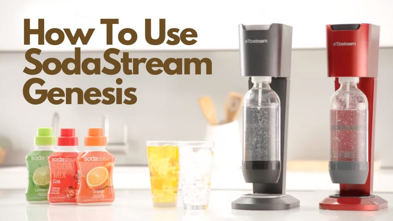 SodaStream Machines, glasses and syrups with text - main pic