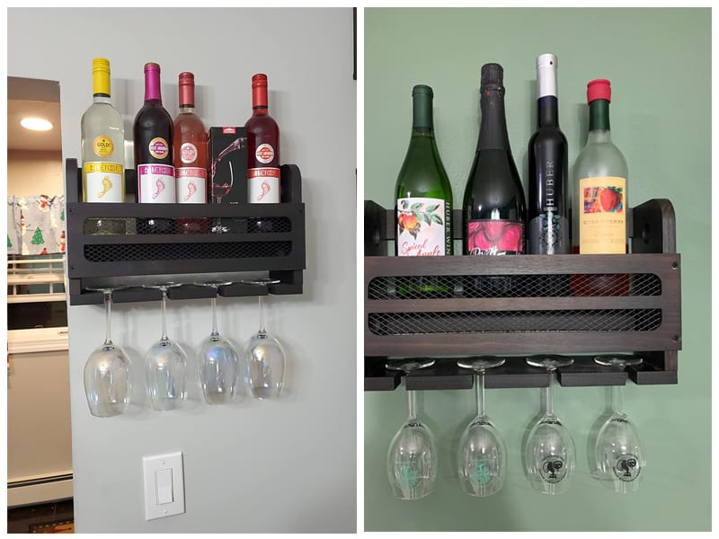 Soduku Wall Mounted Wooden Wine Rack review