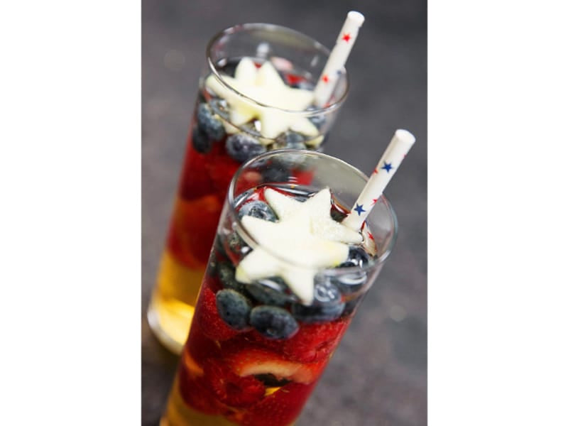 Sparkling Red White and Blue Sangria - Image by Cosmopolitan.com