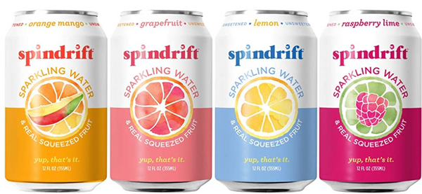 Spindrift Sparkling Water, 4 Flavor Variety Pack, Made with Real Squeezed Fruit