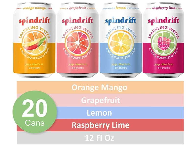 Different flavors of spindrift sparkling water