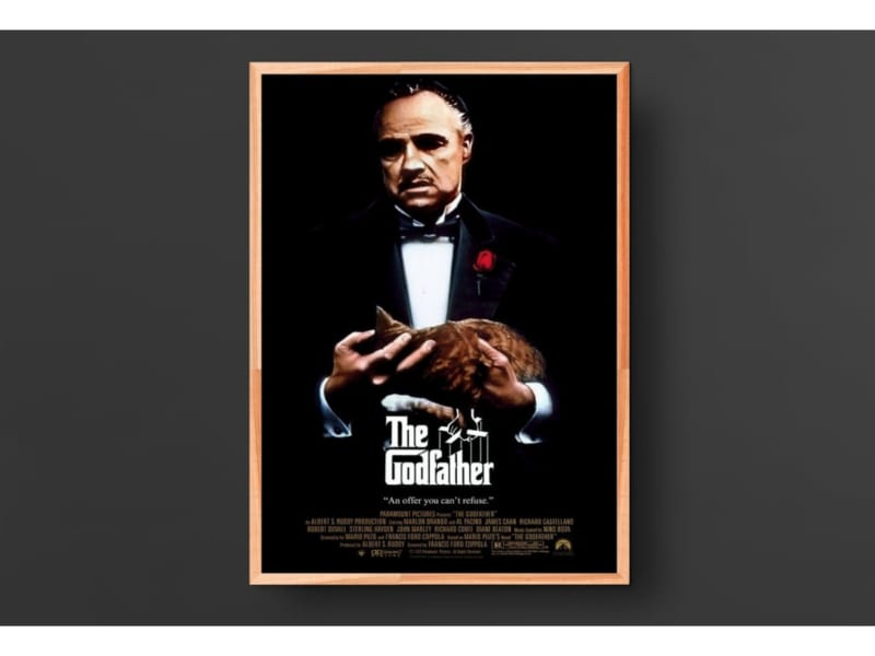 The Godfather Vintage Movie Poster
