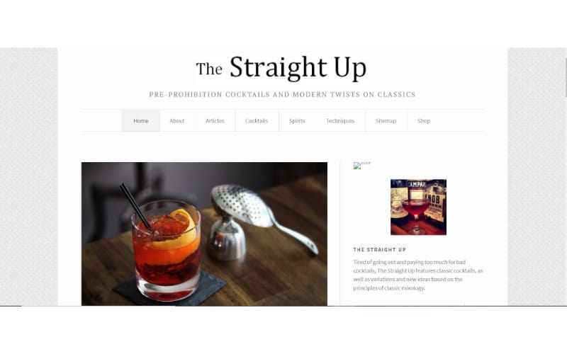 The Straight Up website