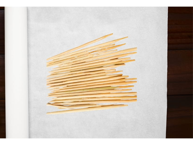 Toothpicks placed on a parchment paper - Image by wikihow.com