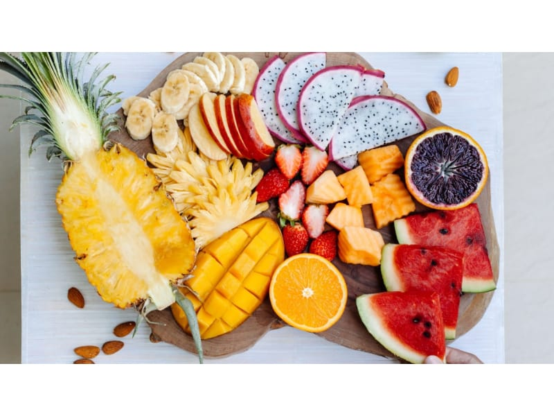 Tropical fruits in a platter