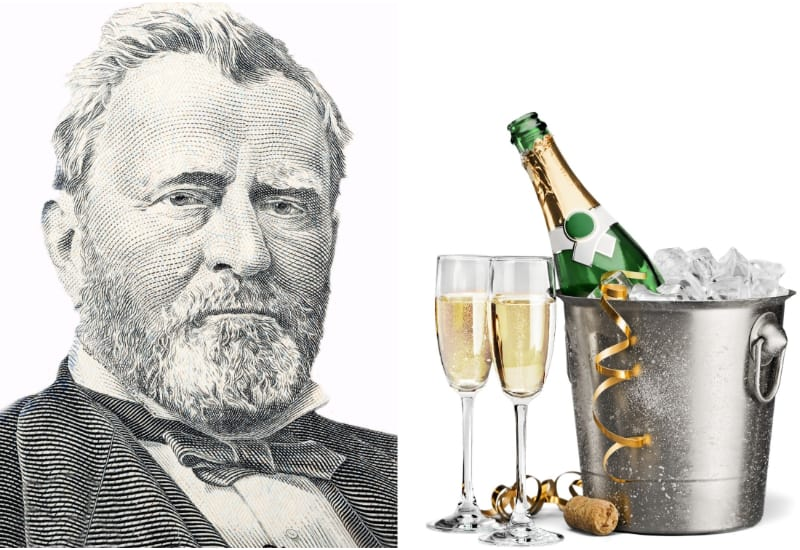 Ulysses Grant and Champagne