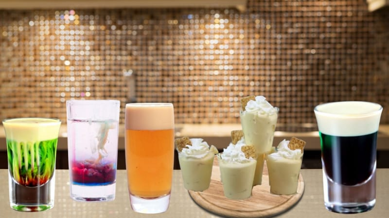 Various buttery nipple cocktails