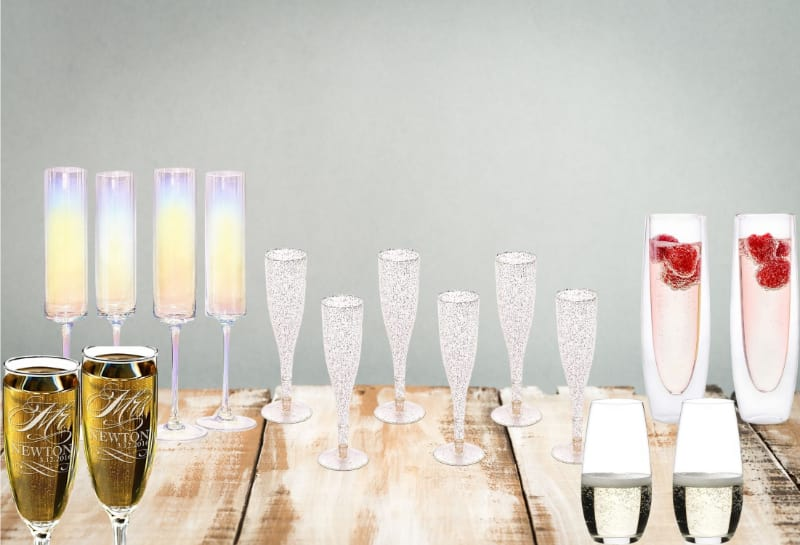 Various champagne glasses to choose from