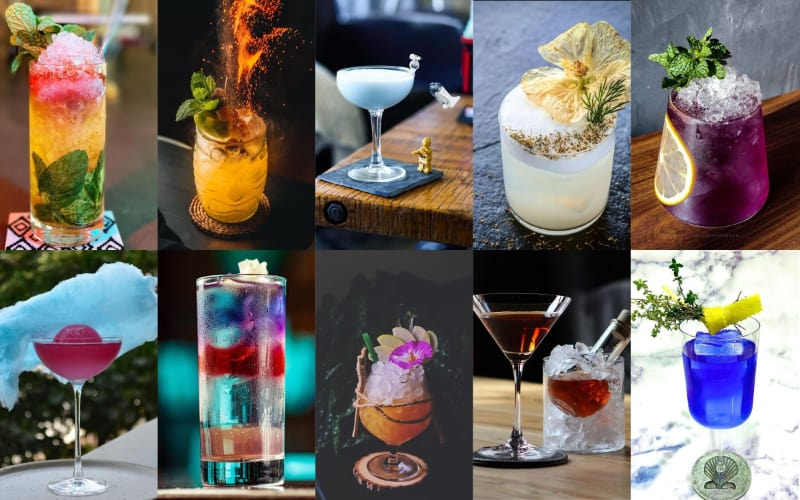Various cocktails to choose from