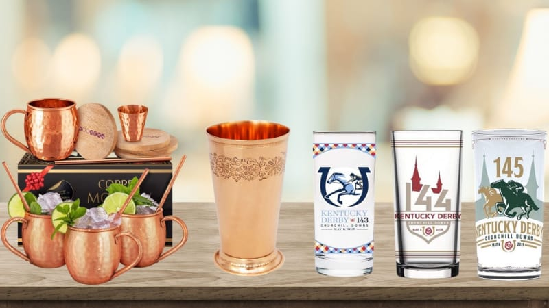 Various mint julep cups to choose from