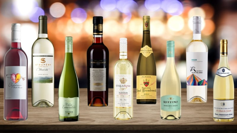Various Moscato Wines to choose from