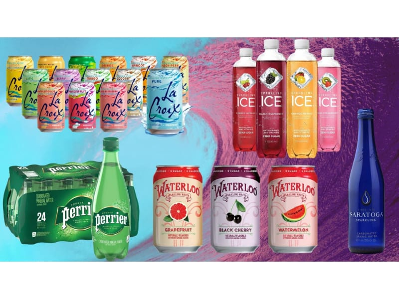 Various Sparkling Water Brands To Choose From