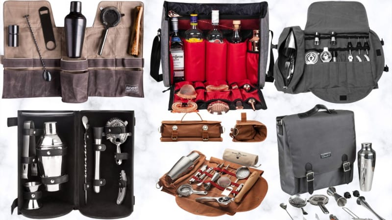 Various travel bar sets to choose from