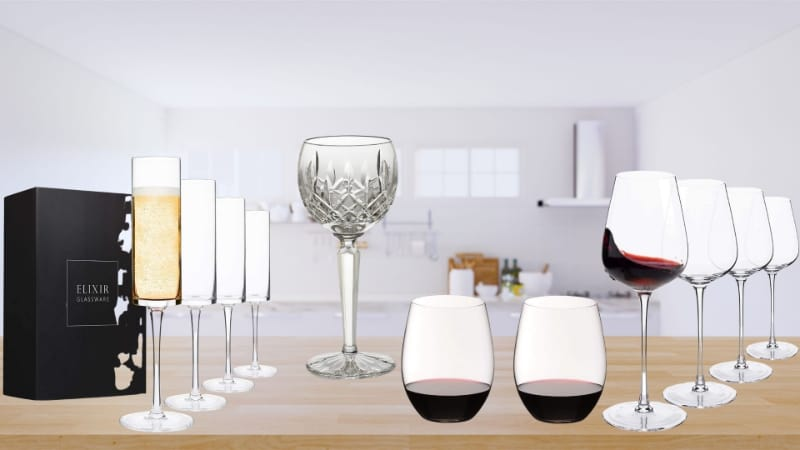 Various wine glasses to choose from
