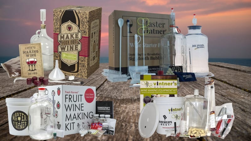 Various wine making kits to choose from