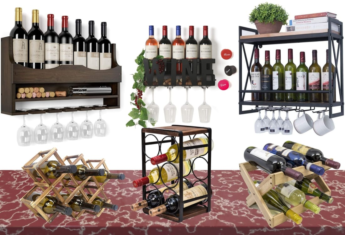 Various wine racks to choose from