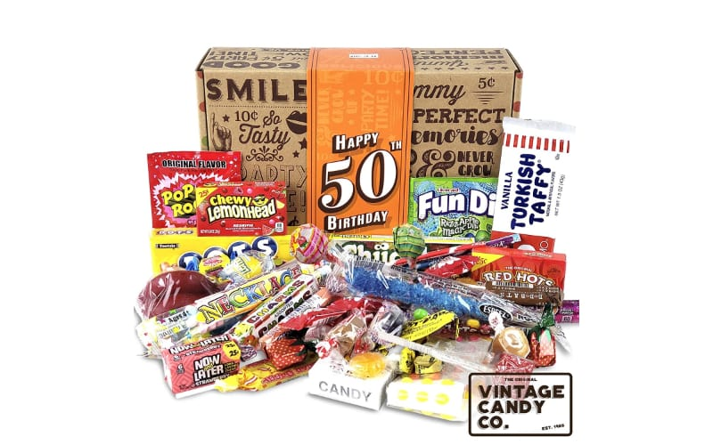 VINTAGE CANDY CO. 50th Birthday Retro Candy Gift Box