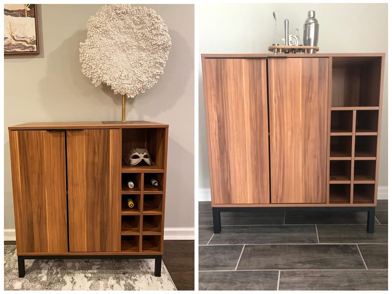 Walker Edison Mid-Century Modern Wine Cabinet review