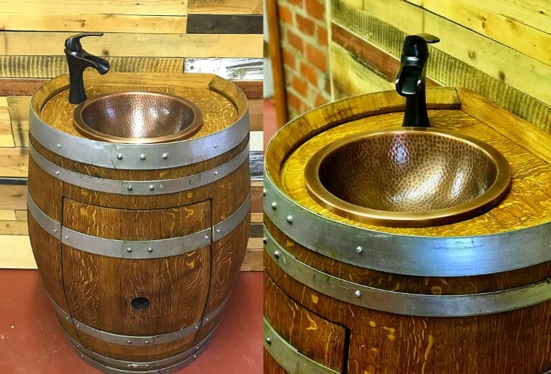 Wine Barrel Vanity Sink