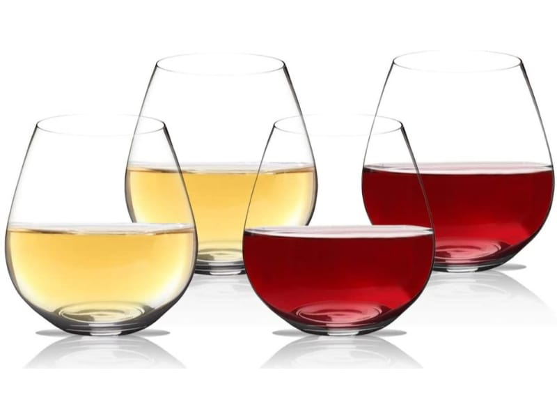 Wine Outside Unbreakable Stemless Wine Glasses